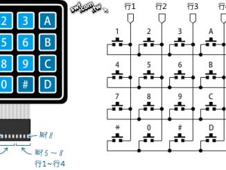 Arduino 4×4薄膜键盘按键扫描程序原理