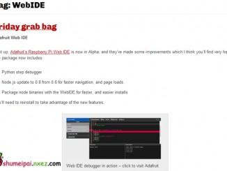 树莓派原创开发环境——WebIDE