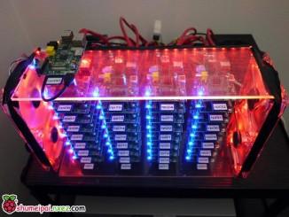 由32块树莓派构建的超级计算机