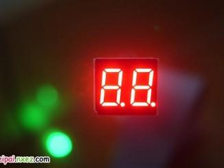 树莓派驱动4位数码管显示时间