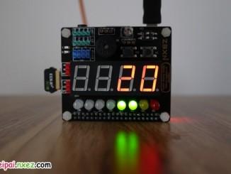 树莓派 SAKS 扩展板挑战应用 之 PM2.5 指示灯