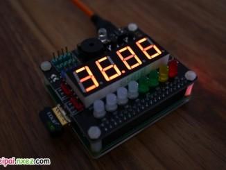 树莓派 SAKS 扩展板实用应用 之 CPU 温度显示和警报