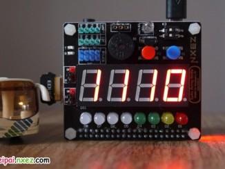 树莓派 SAKS 扩展板进阶例程 之 数字闹钟