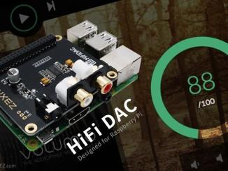 树莓派 HiFi DAC v1.1 扩展板开始发售